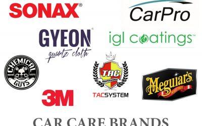 Tổng hợp các thương hiệu chăm sóc xe hơi