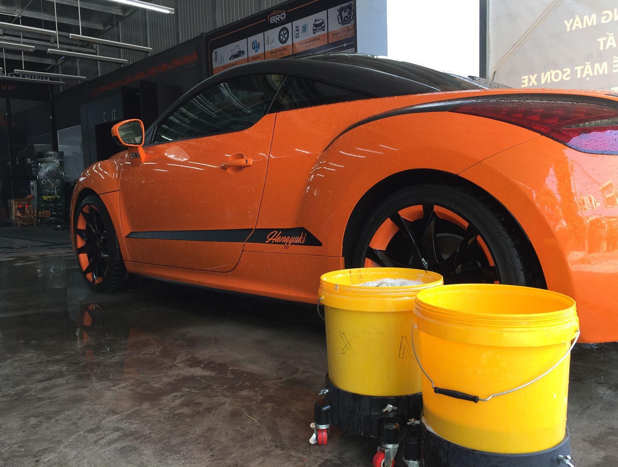 rửa xe 3 xô